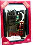 Coca Cola, Werbespiegel in Kuststoffrahmen schwarz Refresh yourself