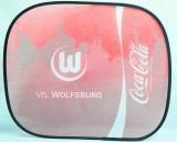 Coca Cola, Auto Sonnenschutz, Sonnenblende, Seitenfenster Vfl Wolfsburg