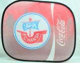 Coca Cola, Auto Sonnenschutz, Sonnenblende, Seitenfenster FC Hansa Rostock