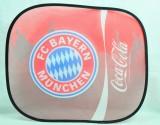 Coca Cola, Auto Sonnenschutz, Sonnenblende, Seitenfenster FC Bayern München