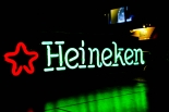 Heineken Bier Leuchtreklame, Neonleuchte, Leuchtwerbung 65cm