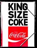 Coca Cola, A4 Format Sammelmappe mit Gummizug, Schulmappe King Size Coke