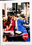 Coca Cola, Original Vertikal Poster, Plakat Always a smile