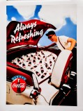 Coca Cola, Original Vertikal Poster, Plakat Always refreshing Car