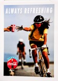 Coca Cola, Original Vertikal Poster, Plakat Always refreshing Bike