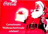 Coca Cola, 3D Blechschild, Werbeschild Gemeinsam Weihnachtsfreude erleben