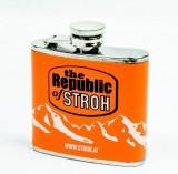 Stroh Rum, Mini-Flachmann, Taschenflasche, Edelstahl, Republic
