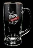 Duckstein Bierkrug, Glas / Gläser, Bierglas mit Silberrand, Karsten Kehrein.
