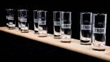 Stroh Rum, Das Echtholz Meterbrett mit 10 Shot Gläsern 2cl 4cl, 90cm