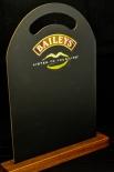 Baileys Schreibtafel, Kreidetafel, Werbetafel für Tisch auf Holzfuß