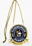 Flensburger Dunkel, Keramik Zapfhahnschild oval Feinherb Frisch