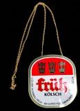 Früh Kölsch, Metall, Zapfschild, Zapfhahnschild Kronen