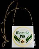 Moravia Pils, Acryl Zapfhahnschild, Tresenschild, eckig
