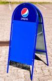 Pepsi Cola, Kundenstopper, Straßenaufsteller, Vollmetall, Blue Ozean