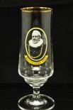 Ratsherrn Pils Glas / Gläser, Bierglas / Biergläser mit Goldrand 80er Jahre 0,2l