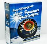 Paulaner Weißbier, Rodelreifen, Schlitten, Pure Wintergaudi