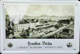 Frankenbräu Bier Blechschild, Werbeschild Neundorf Brauerei