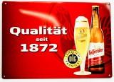Hasseröder Bier, 3D Blechschild, Werbeschild Qualität seit 20 Jahren