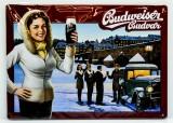 Budweiser Bier, 3D Blechschild, Werbeschild Pisek