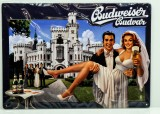 Budweiser Bier, 3D Blechschild, Werbeschild Schloß Hluboka nad Vltavou