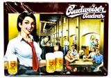 Budweiser Bier, 3D Blechschild, Werbeschild Restaurant Masne Kramy