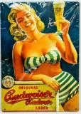 Budweiser Bier, 3D Blechschild, Werbeschild Ladys Nr.2