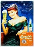 Budweiser Bier, 3D Blechschild, Werbeschild Ladys Nr.3