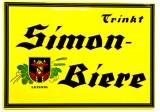 Simon Biere Werbeschild, Blechschild Leising