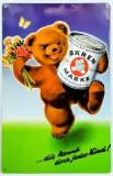 Bärenmarke Dosenmilch, Blechschild, Werbeschild Bärenmarke
