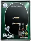 Sternquell Pilsener, 3D Blechschild, Werbeschild Brauverein Plauen Vertikal Magnettafel mit 2 Magneten!!