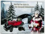 Sternquell Pilsener, 3D Blechschild, Werbeschild Weihnachtsbier Auto