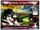 Sternquell Pilsener, 3D Blechschild, Werbeschild Schwarzbier