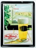 Saalfelder Bier, 3D Blechschild, Werbeschild Gasthof Vertikal