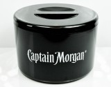 Captain Morgan Rum, Eiswürfelbehäter, Flaschenkühler, schwarze Ausführung