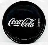 Coca Cola, Rundtablett, Serviertablett, Kellnertablett, schwarze Ausführung