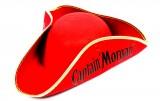 Captain Morgan Rum, Dreiecks Hut, Fasching, Piratenhut rote Ausführung