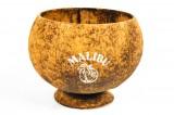 Malibu Rum, Echt Kokosnuß Glas, Becher, Schale, verschiedene Farbgebungen