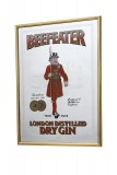 Beefeater Gin, Werbespiegel in Messingrahmen braun London
