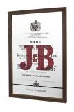 J & B Whisky, Werbespiegel Rare in Echtholzrahmen braun