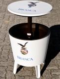 Fernet Branca COOL-BAR, weiß/grün, Partytisch, integrierte Getränkekühlung/Eisbox
