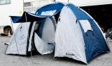 Krombacher Pilsener, 4 Mann Campingzelt, Outdoorzelt mit 2 x 2 Mann Kabinen