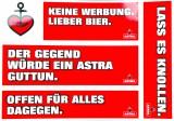 Astra Bier, 5 x Aufkleber, Sticker, Herz Anker, Hamburg, St. Pauli, Reeperbahn