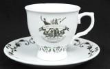 Hendricks Gin, Porzellan Teetasse mit Unterteller, Kaffeetasse, sehr selten....