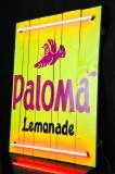 Paloma Lemonade, Echtholz Leuchtreklame, Leuchtwerbung, Neon, Dimmbar, sehr rar!