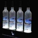 Grey Goose Vodka, 4x LED Flaschenleuchte, Leuchtreklame, Leuchtwerbung