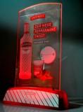 Smirnoff Vodka, LED Speisekartenaufsteller, Tischaufsteller Peppermint Twist