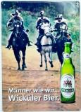 Wicküler Brauerei, Blechschild, Werbeschild Feld