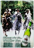 Wicküler Brauerei, Blechschild, Werbeschild Wasser
