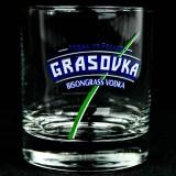 Grasovka Vodka, Glas / Gläser, Vodka Tumbler Büffelgras Cortina 2cl/4cl