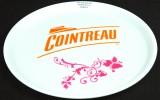 Cointreau Likör, Serviertablett, Rundtablett, (Rutschfest) weiße Ausführung